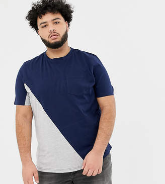 Another Influence PLUS Diagonal Pocket T-Shirt-Navy