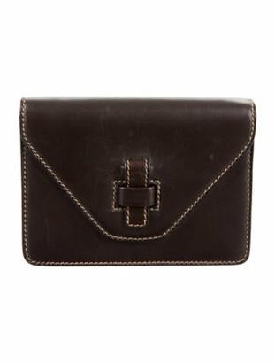 Gucci Vintage Leather Clutch w/ Strap brown