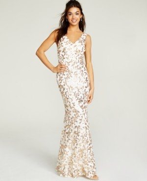 City Studios Juniors' Sequined Gown