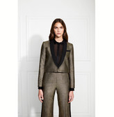 Rachel Zoe Cher Metallic Stripe Suiting Blazer