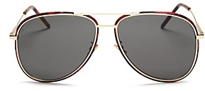 Saint Laurent Unisex Aviator Sunglasses, 56mm