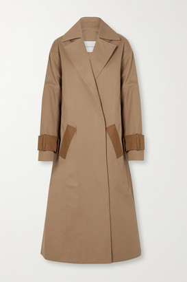 KING & TUCKFIELD Two-tone Cotton-drill Trench Coat - Beige