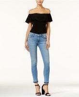 Hudson Krista Raw-Hem Skinny Jeans