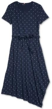 Tommy Hilfiger Adaptive Dot-Print Asymmetrical Dress