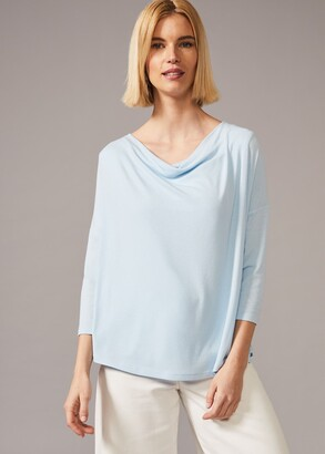 Phase Eight Caggie Cowl Neck Double Layer Top