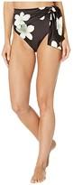 Lauren Ralph Lauren Villa Floral High-Waist Tie Pant (Black/White) Women's Swimwear