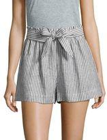 BCBGeneration Striped Tie Waist Shorts