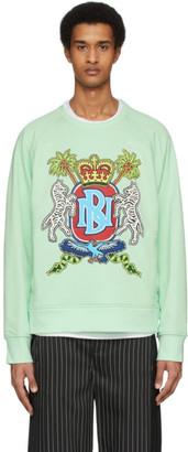 Neil Barrett Green Artist Logo Sweatshirt