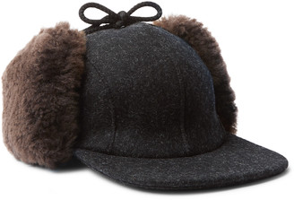 Filson Mackinaw Shearling-Trimmed Wool Trapper Hat