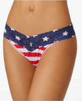 Hanky Panky Stars & Stripes Signature Original-Rise Sheer Lace Thong 8N1182