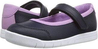 Clarks Emery Halo (Toddler) (Navy) Girl's Shoes