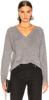 Equipment Asher Cashmere V Neck in Heather Gray | FWRD