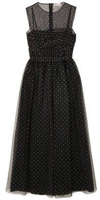 RED Valentino Metallic Polka-dot Point D'esprit Midi Dress