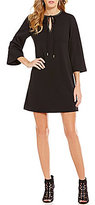 Jessica Simpson Keyhole Studded-Neckline A-Line Crepe Dress