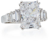 FANTASIA Emerald-Cut Cubic Zirconia Ring