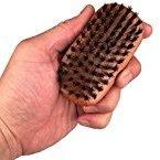 WavEnforcer Boar Bristle Pocket-Size Military Brush, Best Brush for Beards / Pocket / Purse / Travel Size, Medium Firmness