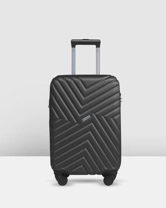 Jett Black Silver Maze Carry On Suitcase