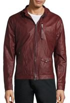 John Varvatos Slim Sheep Skin Leather Jacket