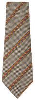 Chanel Vintage Navy Diagional Stripe Silk Tie