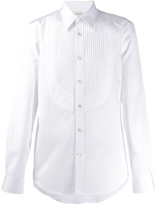 Alexander McQueen Pleated Placket Dress Shirt