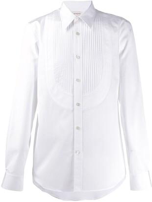 Alexander McQueen Pleated Placket Dress Shirt