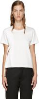 Noir Kei Ninomiya White Leather Ribbon T-Shirt