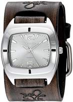 Nemesis Women's 'Retro Vintage Series' Quartz Stainless Steel and Leather Watch, Color:Brown (Model: DBVFB090S)