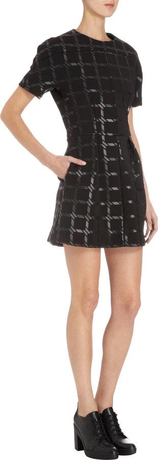 Alexander Wang Short Sleeve Grid Dress