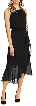 Vince Camuto Ruffle Belted Midi Dress - 100% Exclusive