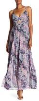Rachel Roy Printed Crinkle Chiffon Tiered Maxi Dress