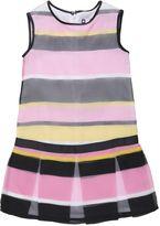 MSGM Striped Silk Organza Dress