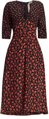 No.21 Candy Apple Midi Dress