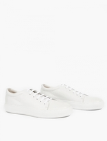 Acne Studios White Grained Leather Adrian Sneakers