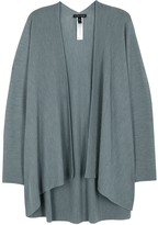 Eileen Fisher Blue Ribbed Wool Cardigan