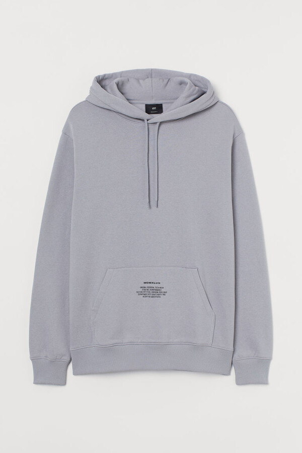 Thumbnail for your product : H&M Text-print Hoodie - Gray