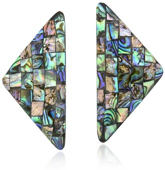 Aeravida Handmade Retro Triangle Shaped Abalone Shell Earrings