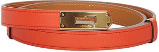 Hermes Orange Epsom Leather Kelly Belt