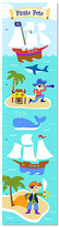 Olive Kids Ahoy Matey Personalized Growth Chart Decal
