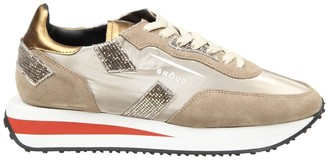 Ghoud Sneakers Rush In Suede And Nylon Color Sand