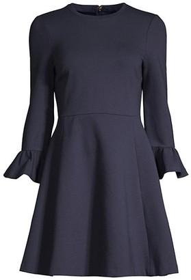 Kate Spade Ponte Bell-Sleeve Dress