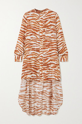Cult Gaia Thessaly Printed Jersey Tunic - Brown
