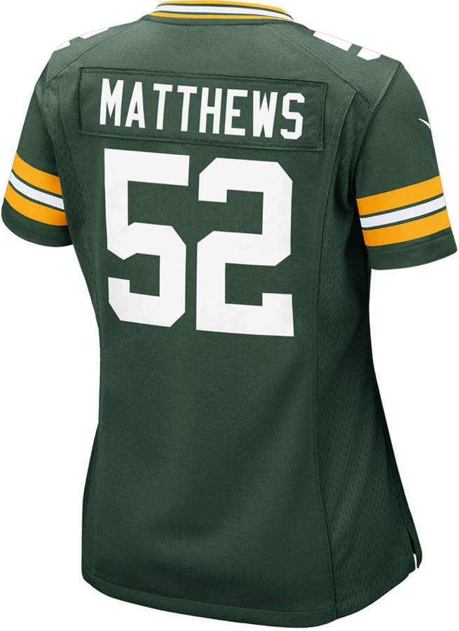 c51508cb Women Clay Matthews Green Bay Packers Game Jersey