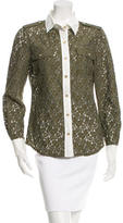 Tory Burch Lace Button-Up Top