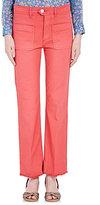 Etoile Isabel Marant WOMEN'S HIGH-WAIST NOLAZ JEANS-RED SIZE 36 FR