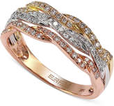 Effy Diamond Tri-Tone Ring (1/3 ct. t.w.) in 14k Gold