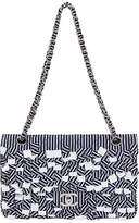 One Kings Lane Vintage Chanel Blue & White Sequins Flap Bag