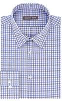 Geoffrey Beene Men's Fitted Tattersall Point Collar Dress Shirt