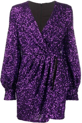 Amen Sequin Wrap Dress