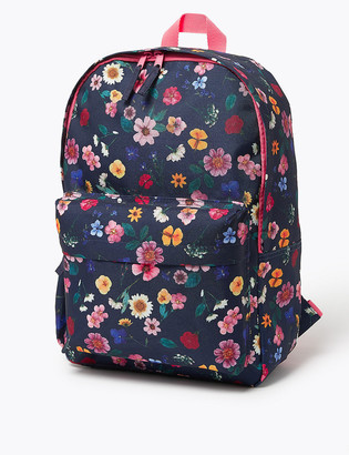 Marks and Spencer Kids Floral Water Repellent Backpack