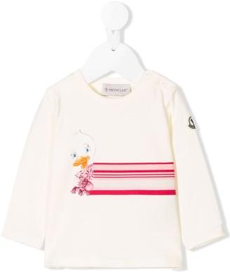 Moncler Enfant duck print T-shirt